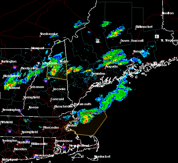 Radar Image for Severe Thunderstorms near Bartlett, NH at 7/8/2017 4:02 PM EDT