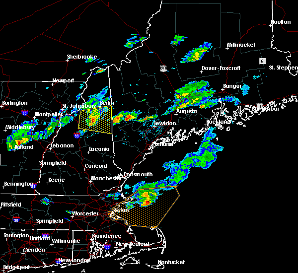 Radar Image for Severe Thunderstorms near Bartlett, NH at 7/8/2017 4:12 PM EDT