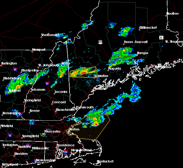Radar Image for Severe Thunderstorms near Lewiston, ME at 7/8/2017 4:24 PM EDT