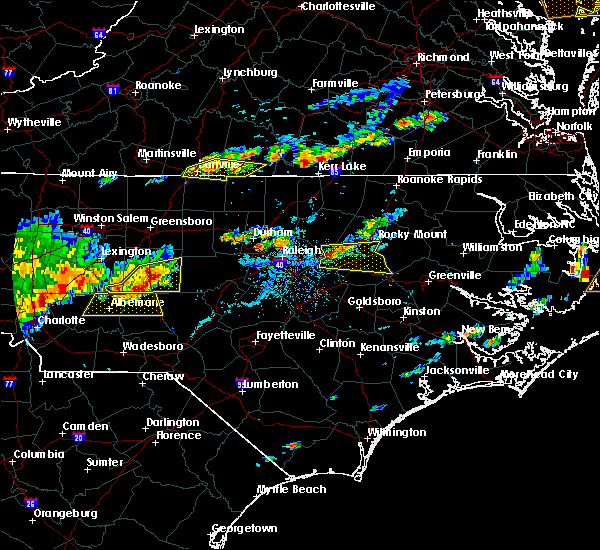 Radar Image for Severe Thunderstorms near Wilson, NC at 7/8/2017 6:21 PM EDT