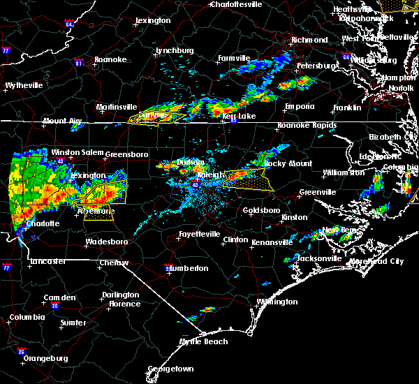Radar Image for Severe Thunderstorms near Biscoe, NC at 7/8/2017 6:27 PM EDT