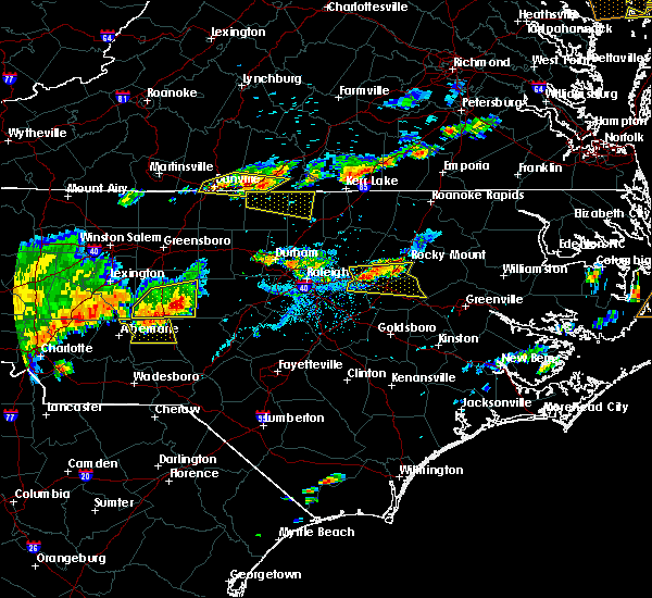 Radar Image for Severe Thunderstorms near Asheboro, NC at 7/8/2017 6:34 PM EDT