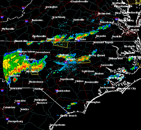 Radar Image for Severe Thunderstorms near Wilson, NC at 7/8/2017 6:44 PM EDT