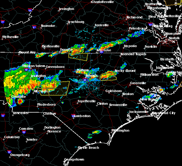 Radar Image for Severe Thunderstorms near Wilson, NC at 7/8/2017 6:53 PM EDT
