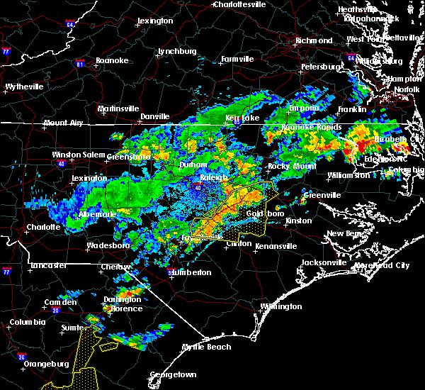 Radar Image for Severe Thunderstorms near Benson, NC at 7/8/2017 9:04 PM EDT