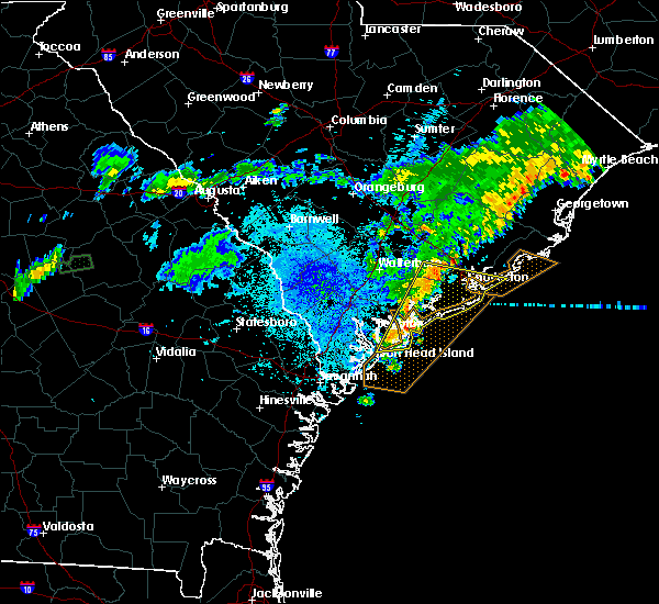 Radar Image for Severe Thunderstorms near North Charleston, SC at 7/8/2017 10:30 PM EDT