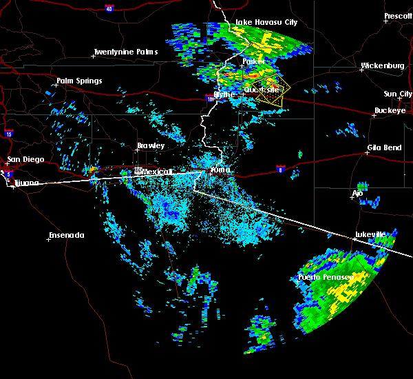 Radar Image for Severe Thunderstorms near Vicksburg, AZ at 7/8/2017 9:00 PM MST