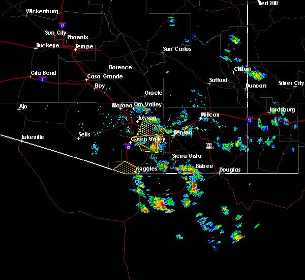 Radar Image for Severe Thunderstorms near Beyerville, AZ at 7/9/2017 1:47 PM MST