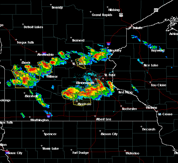 Radar Image for Severe Thunderstorms near Otsego, MN at 7/9/2017 9:16 PM CDT