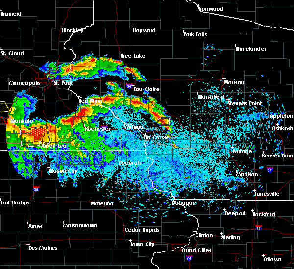 Radar Image for Severe Thunderstorms near Cataract, WI at 7/9/2017 10:51 PM CDT