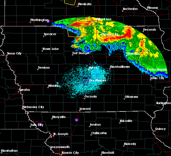 Radar Image for Severe Thunderstorms near Hayfield, IA at 7/10/2017 12:50 AM CDT