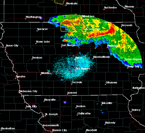 Radar Image for Severe Thunderstorms near Hayfield, IA at 7/10/2017 1:02 AM CDT