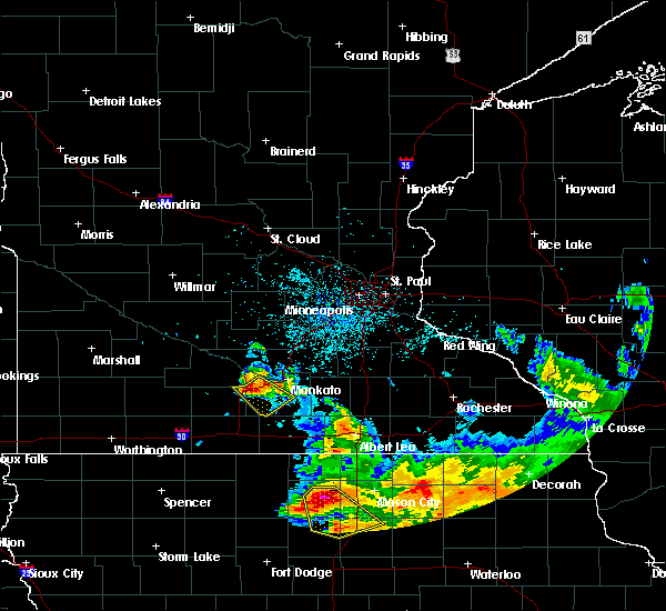Radar Image for Severe Thunderstorms near Good Thunder, MN at 7/10/2017 1:47 AM CDT