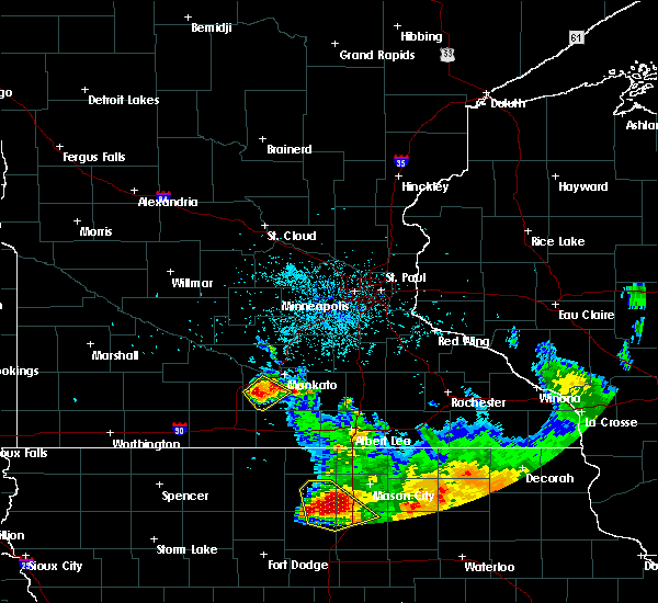 Radar Image for Severe Thunderstorms near Good Thunder, MN at 7/10/2017 1:57 AM CDT