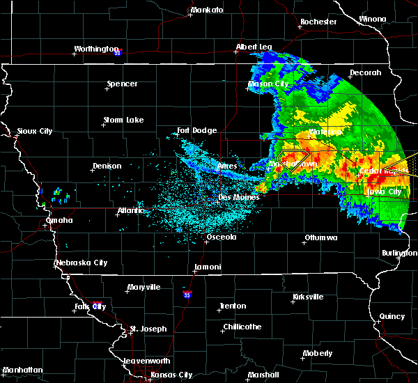Radar Image for Severe Thunderstorms near Lincoln, IA at 7/10/2017 3:24 AM CDT