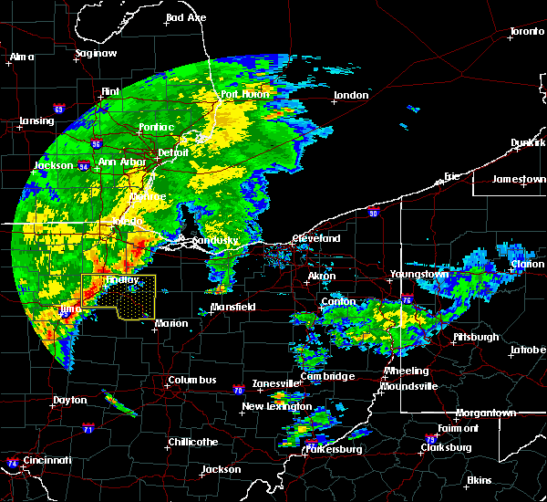 Radar Image for Severe Thunderstorms near McComb, OH at 7/10/2017 11:55 AM EDT