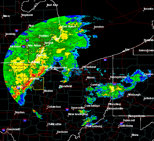 Radar Image for Severe Thunderstorms near New Riegel, OH at 7/10/2017 12:09 PM EDT