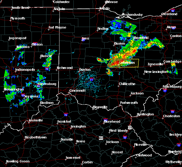 Radar Image for Severe Thunderstorms near Marble Cliff, OH at 7/10/2017 3:16 PM EDT
