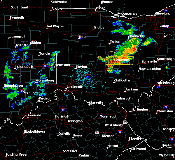 Radar Image for Severe Thunderstorms near Westerville, OH at 7/10/2017 3:25 PM EDT