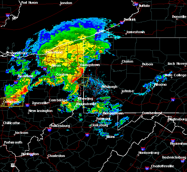 Radar Image for Severe Thunderstorms near Lisbon, OH at 7/10/2017 3:29 PM EDT