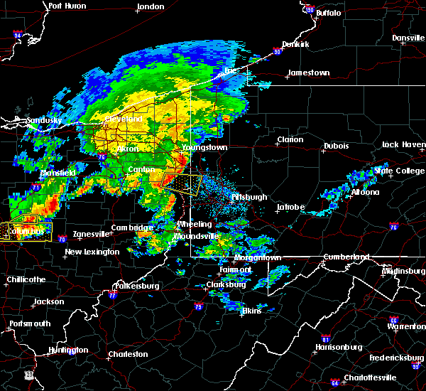 Radar Image for Severe Thunderstorms near Lisbon, OH at 7/10/2017 3:30 PM EDT