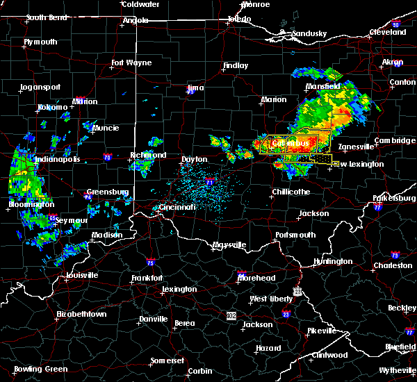 Radar Image for Severe Thunderstorms near Westerville, OH at 7/10/2017 3:53 PM EDT