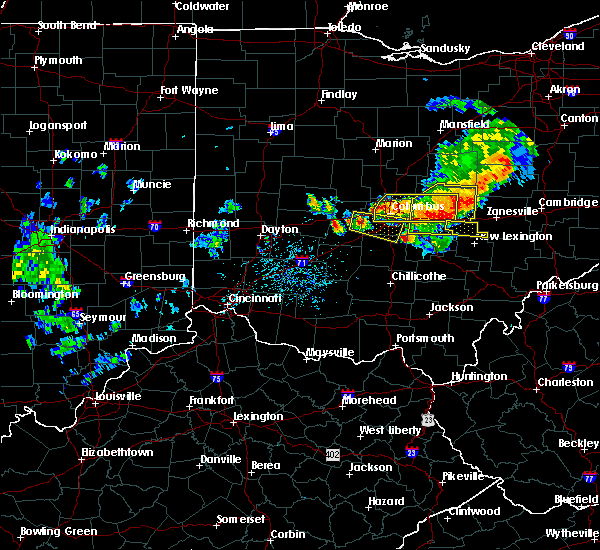 Radar Image for Severe Thunderstorms near Rushville, OH at 7/10/2017 4:00 PM EDT