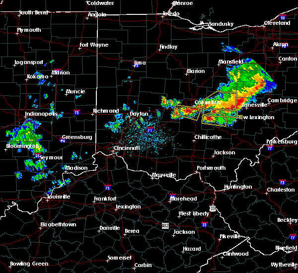 Radar Image for Severe Thunderstorms near Rushville, OH at 7/10/2017 4:11 PM EDT
