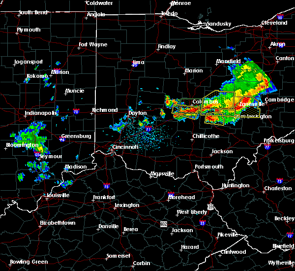 Radar Image for Severe Thunderstorms near Rushville, OH at 7/10/2017 4:23 PM EDT