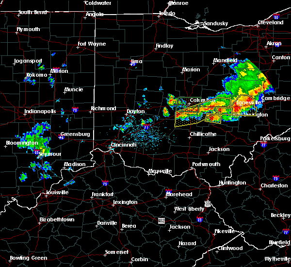 Radar Image for Severe Thunderstorms near Obetz, OH at 7/10/2017 4:33 PM EDT