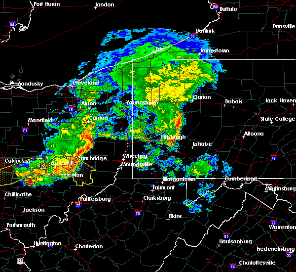 Radar Image for Severe Thunderstorms near Lore City, OH at 7/10/2017 4:46 PM EDT