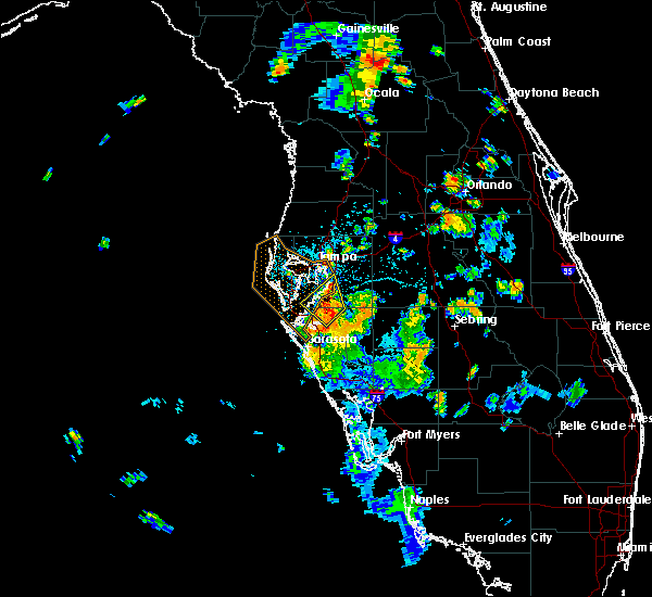 Radar Image for Severe Thunderstorms near Riverview, FL at 7/10/2017 4:48 PM EDT
