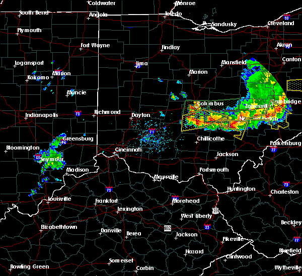 Radar Image for Severe Thunderstorms near Pickerington, OH at 7/10/2017 5:00 PM EDT