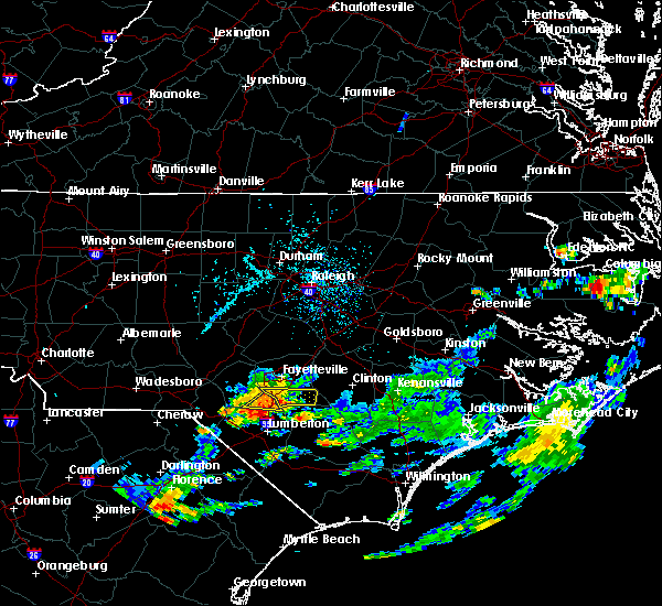 Radar Image for Severe Thunderstorms near Rockfish, NC at 7/10/2017 5:28 PM EDT