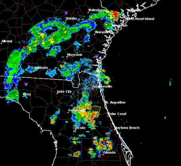 Radar Image for Severe Thunderstorms near Bunnell, FL at 7/10/2017 5:34 PM EDT