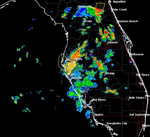 Radar Image for Severe Thunderstorms near Tampa, FL at 7/10/2017 5:40 PM EDT