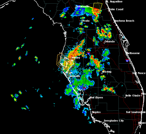 Radar Image for Severe Thunderstorms near St. Leo, FL at 7/10/2017 5:46 PM EDT