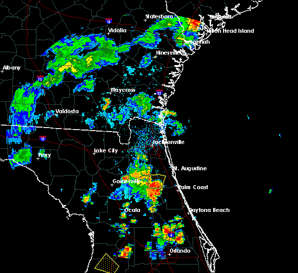 Radar Image for Severe Thunderstorms near Flagler Estates, FL at 7/10/2017 5:50 PM EDT