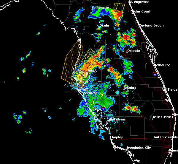 Radar Image for Severe Thunderstorms near Clearwater, FL at 7/10/2017 5:56 PM EDT