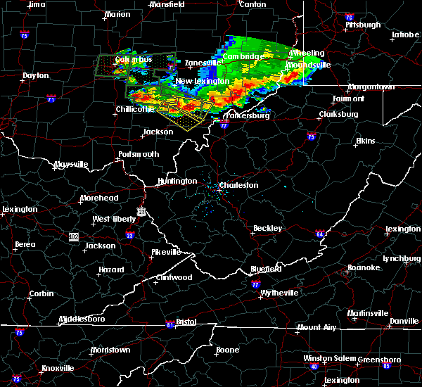 Radar Image for Severe Thunderstorms near Chesterhill, OH at 7/10/2017 5:59 PM EDT