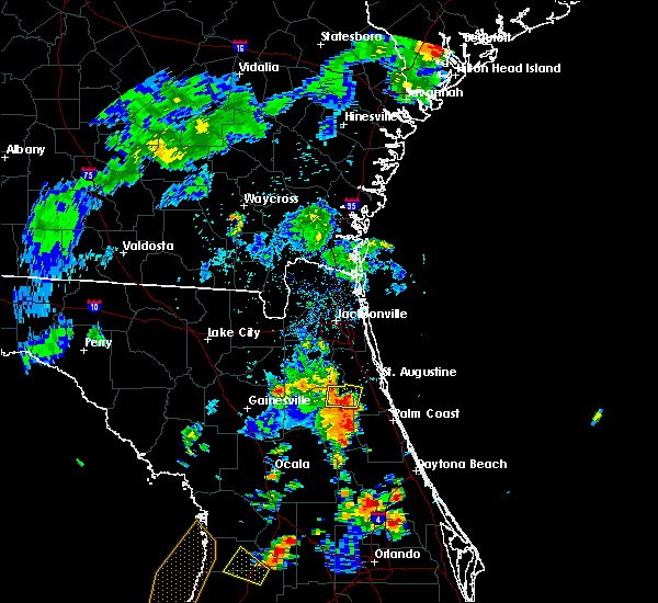 Radar Image for Severe Thunderstorms near Hastings, FL at 7/10/2017 6:02 PM EDT