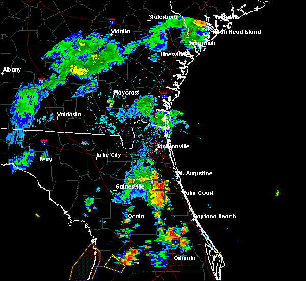 Radar Image for Severe Thunderstorms near Hastings, FL at 7/10/2017 6:08 PM EDT
