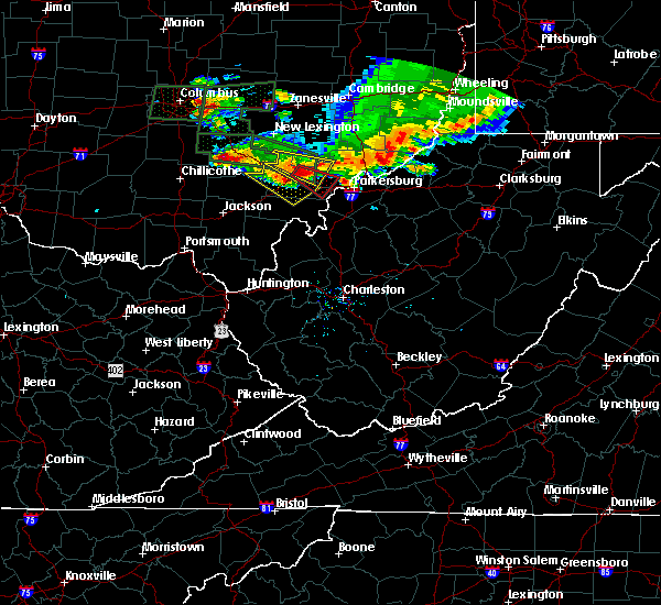 Radar Image for Severe Thunderstorms near Stewart, OH at 7/10/2017 6:09 PM EDT