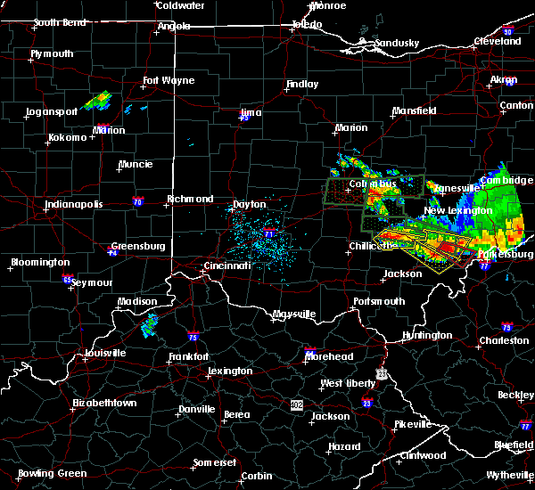 Radar Image for Severe Thunderstorms near Logan, OH at 7/10/2017 6:12 PM EDT
