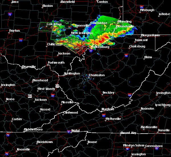 Radar Image for Severe Thunderstorms near Stewart, OH at 7/10/2017 6:21 PM EDT
