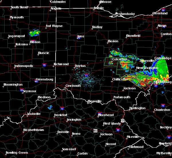 Radar Image for Severe Thunderstorms near Logan, OH at 7/10/2017 6:21 PM EDT