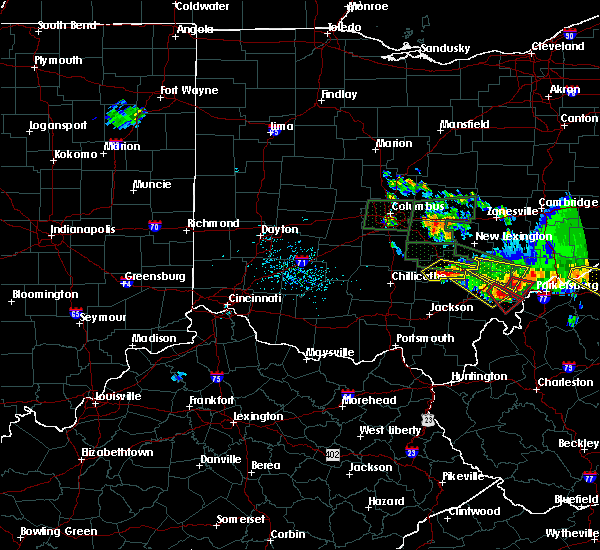 Radar Image for Severe Thunderstorms near Haydenville, OH at 7/10/2017 6:30 PM EDT