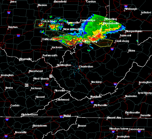 Radar Image for Severe Thunderstorms near Salem, WV at 7/10/2017 6:30 PM EDT