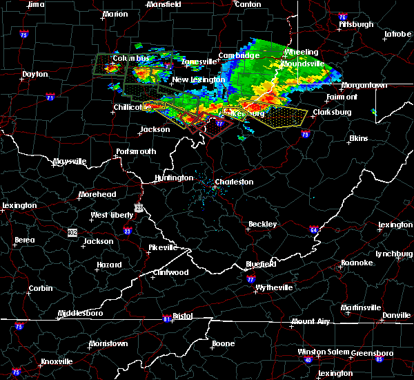 Radar Image for Severe Thunderstorms near Parkersburg, WV at 7/10/2017 6:33 PM EDT
