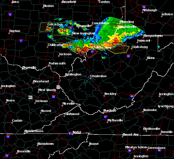 Radar Image for Severe Thunderstorms near Salem, WV at 7/10/2017 6:39 PM EDT